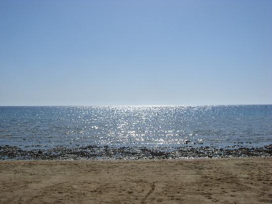 Gorgonia Beach Resort: la spiaggia come appariva alla mattina