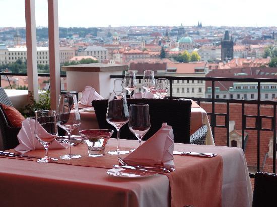 U Zlate Studne Hotel: View from restaurant