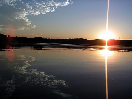 Lake Benton, Миннесота: Sunset view from Room