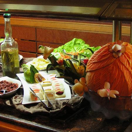 Africa Hotel : part of extensive dinner buffet