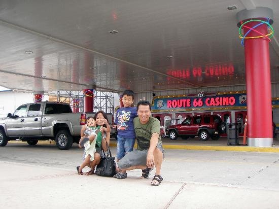 Route 66 Casino Hotel: In front of the hotel/ casino