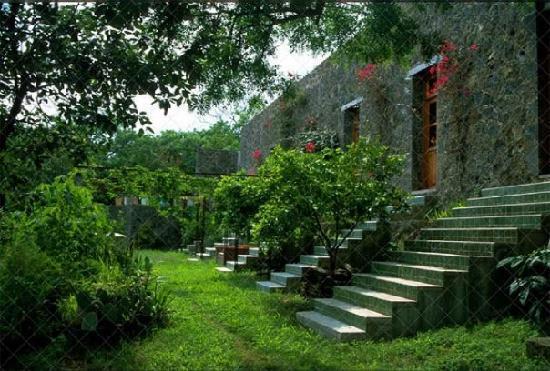 La Finca in Tepoztlan: vom Garten aus