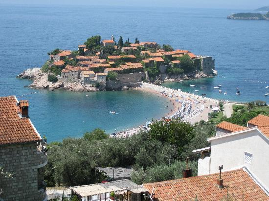 Hotel Adrovic: view of the island from the hotel deck