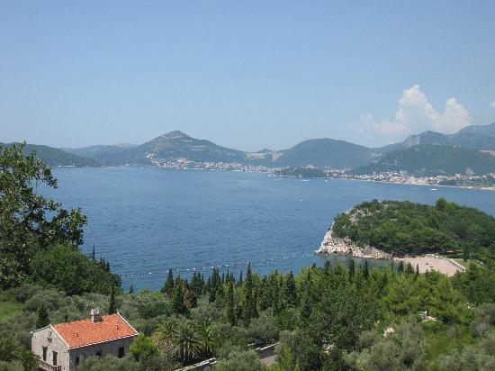 Sveti Stefan, Montenegro: view towards Budva