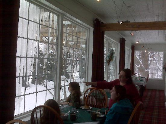 Great Tree Inn Bed & Breakfast: Breakfast with a view