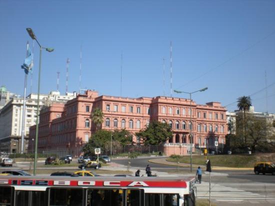 The Pink House: Casa Rosada.  Aregentine Presidential Palace.