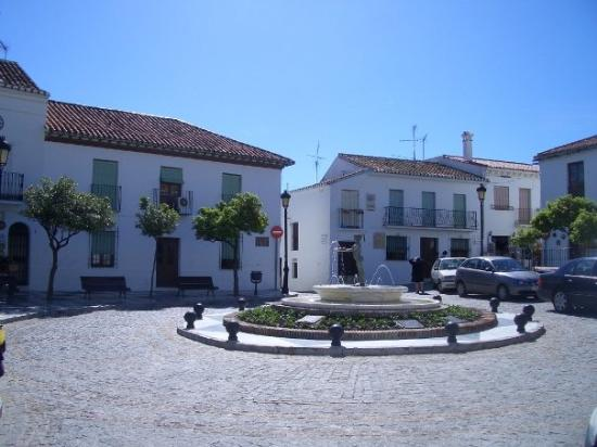 Benalmadena Pueblo (The Old Village) : Orange tree square
