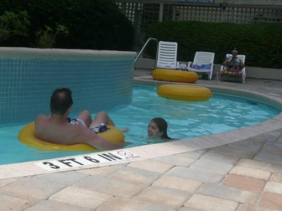 Coral Beach Resort & Suites: Around the lazy river again...and again...and again....