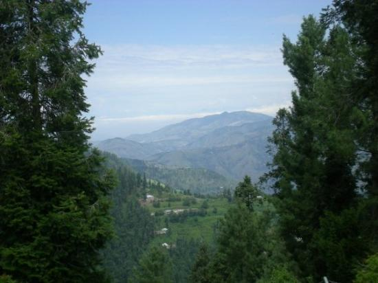 Nathia Gali, ปากีสถาน: Mountains after overnight thunderstorm