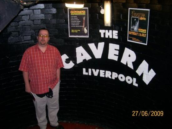 Brian in the Cavern Club in Liverpool, in case you hadn't figured out where he was...