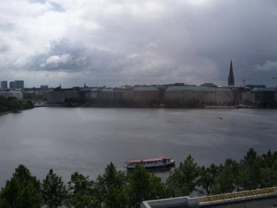 Alster Lakes: Hamburg looking across the Alster. This is how the weather was most of the time I lived there un