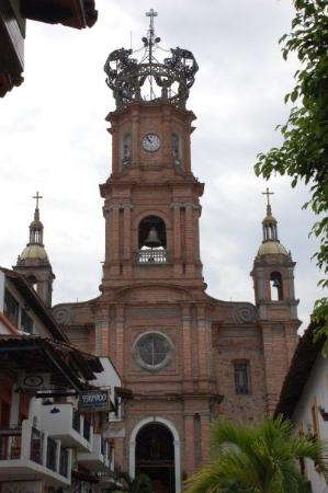 The Church of Our Lady of Guadalupe: Virgin of Guadalupe church in the Puerto Vallarta town center.