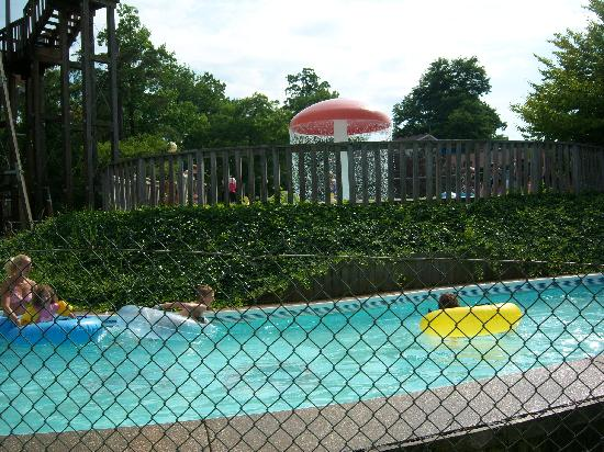Waldameer Park & Water World: lazy river from the other side of the fence