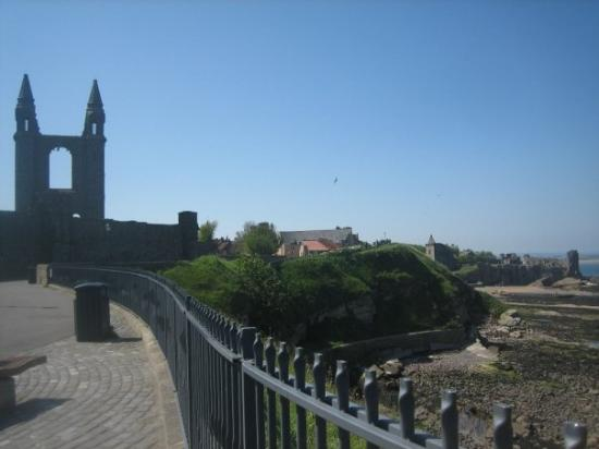 St Andrews Cathedral: the pier and the cathedral