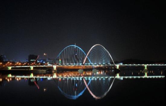 Expo Bridge at night, Daejeon, Korea 2007.11.23 Nikon D80