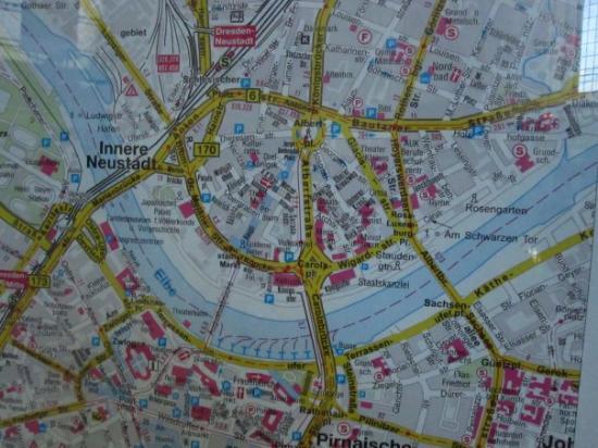 part of the Stadtplan (map of the city).... - Bild von Dresden ... Dresden Map on