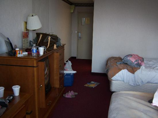 Super 8 Erie/I 90: I didnt get a shot of the room before the mess