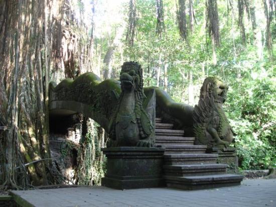 Dragon Bridge in the Sacred Monkey Sanctuary - Bali.