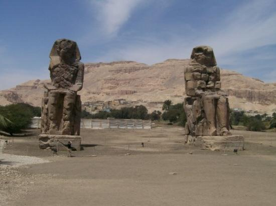 Colossi of Memnon, which are not actually of Memnon at all (the Romans called them this). Oour g
