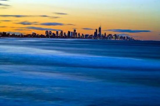 Looking north towards Surfers Paradise