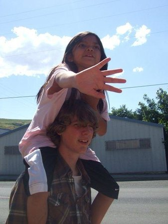 "Lapwai, ID: In the words of Elizabeth: ""I don't think Tyler walked anywhere without someone on his shoulders"