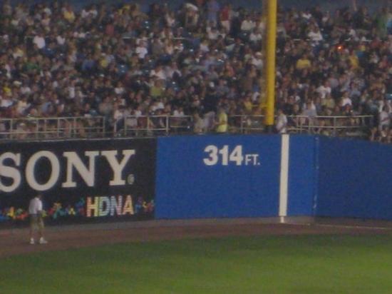 Left field line in Yankee stadium
