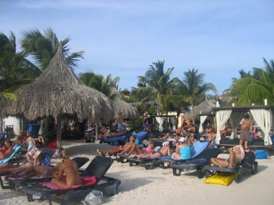 The beach...many people. - Picture of Curacao, Caribbean ...