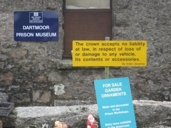 Dartmoor Prison Museum: At the parking lot of the Museum.