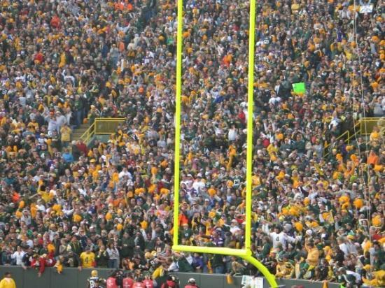 Lambeau Field: 2007 Packers / Vikings (We are somewhere in the middle of this picture) 34-0 & A. Peterson broke