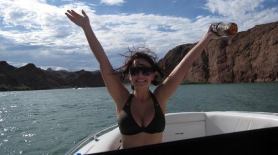 Lake Havasu: I've got my captain in hand.