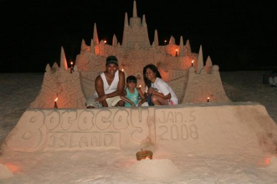 White Beach: The sandcastle that took me hours to build...