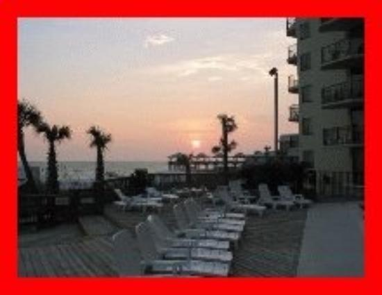 Panama City Beach: SunDeck @ the SUNBIRD condo complex in PCB. Just before sundown.
