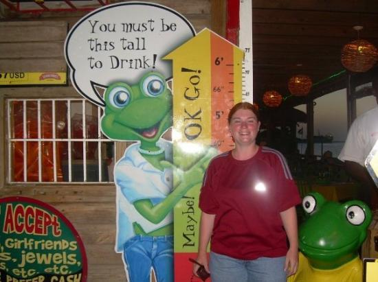 Señor Frog's: yay! I'm tall enough to drink!