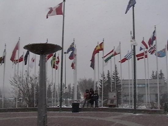 WinSport: Plaza de las banderas Calgary Canada (sede olimpica)