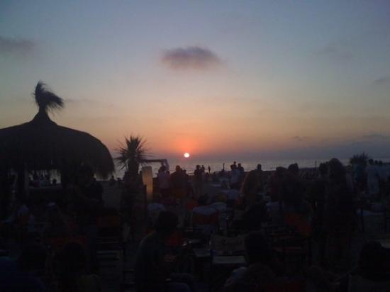 Fregene, Italien: Sunset at Singita Beach