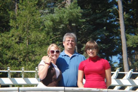 Saratoga Springs, NY: Lauren, Audra and I at Saratoga Flat Track in Saratoga NY in 2008