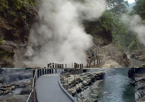Yuzawa, Japan: 湯気がもうもう