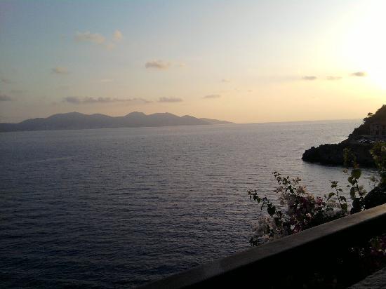 view from Cavos Inn breakfast terrace, Assos