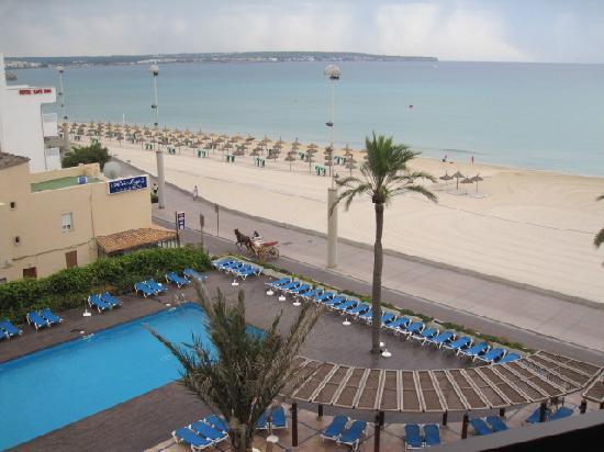 Playa de Palma, Espanha: El Cid- view from our room