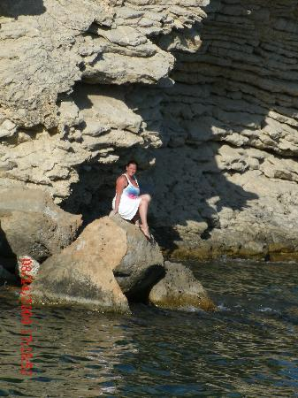 Iberostar Suites Hotel Jardín del Sol: it took me 10 minutes to climb the rocks to pose here,,then i nearly fell into the sea!
