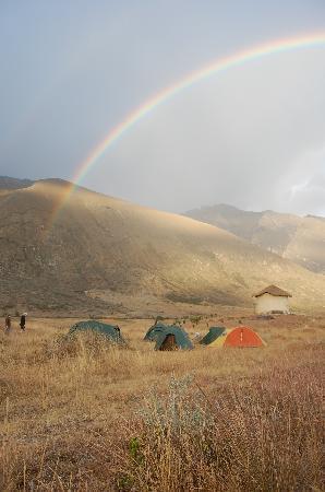 Llanganuco Mountain Lodge : Somewhere over the rainbow