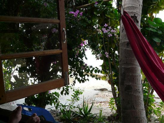 Harmony Beach Resort: Blick aus dem Strandbungalow