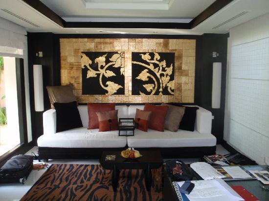 บันยันทรี รีสอร์ท: Living Room - Spa Pool Villa