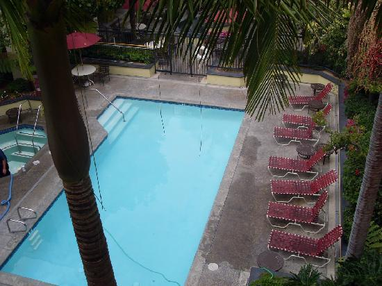 HYATT house Cypress/Anaheim: view of pool from room 317