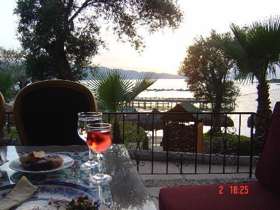 Rixos Premium Bodrum: view from turkish resturant
