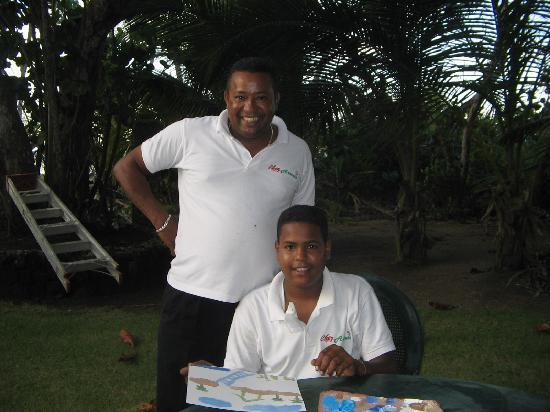 Hideaway Beach Resort: chef arsenio and son