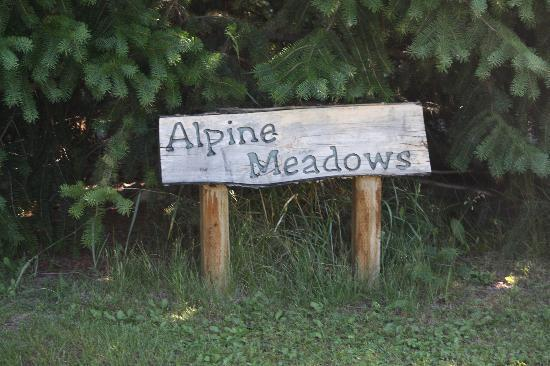 Alpine Meadows Bed & Breakfast: the sign