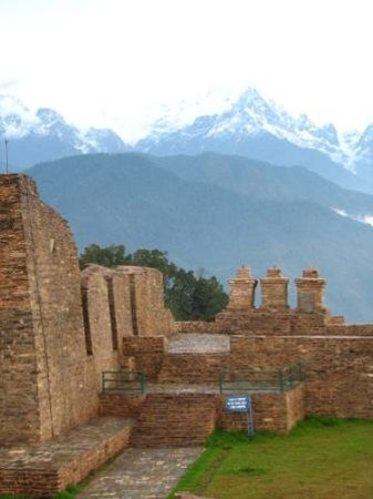 Sikkim, Inde : Rabdentse Ruins of the 17th century