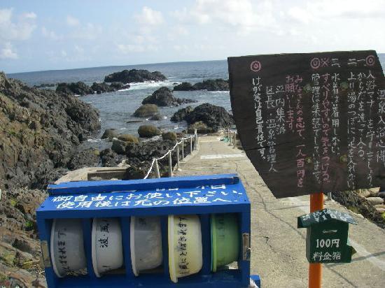 Hirauchi Kaichu Onsen: 入り口