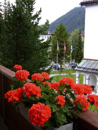 Hotel Meierhof Davos: View from Superior room balcony